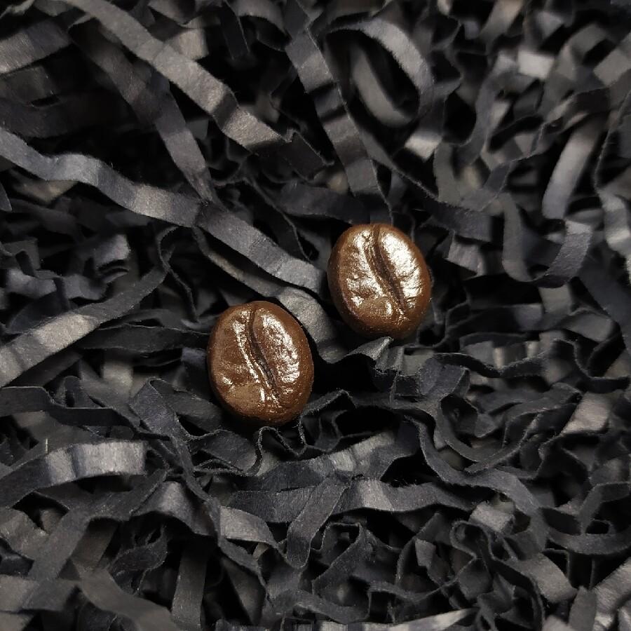 Kolczyki, ziarna kawy