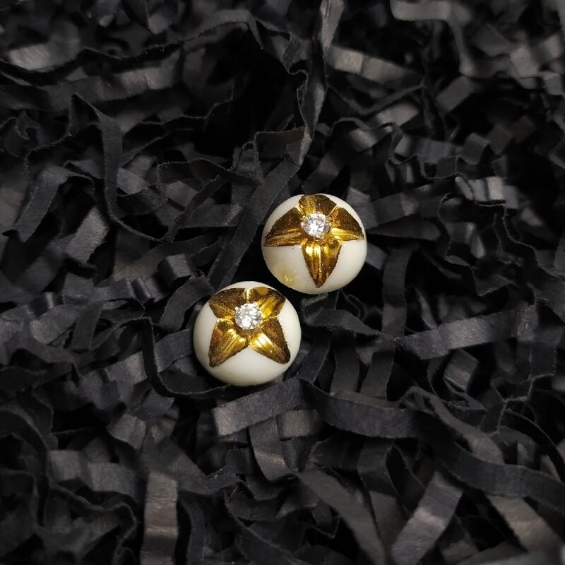 Kolczyki, KRIS DELUXE L, złocone z cyrkonią