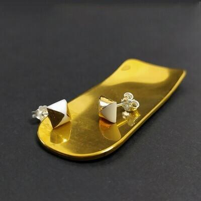 Kolczyki, kwadraty, złocone