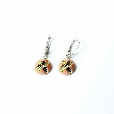 Kolczyki wiszące, KRIS L, pomarańczowe złocone