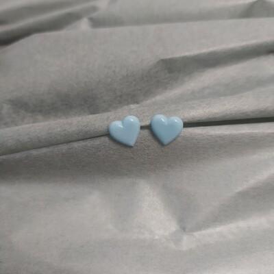 Kolczyki, serduszka błękitne