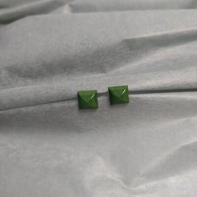 Kolczyki, kwadraty, zielone