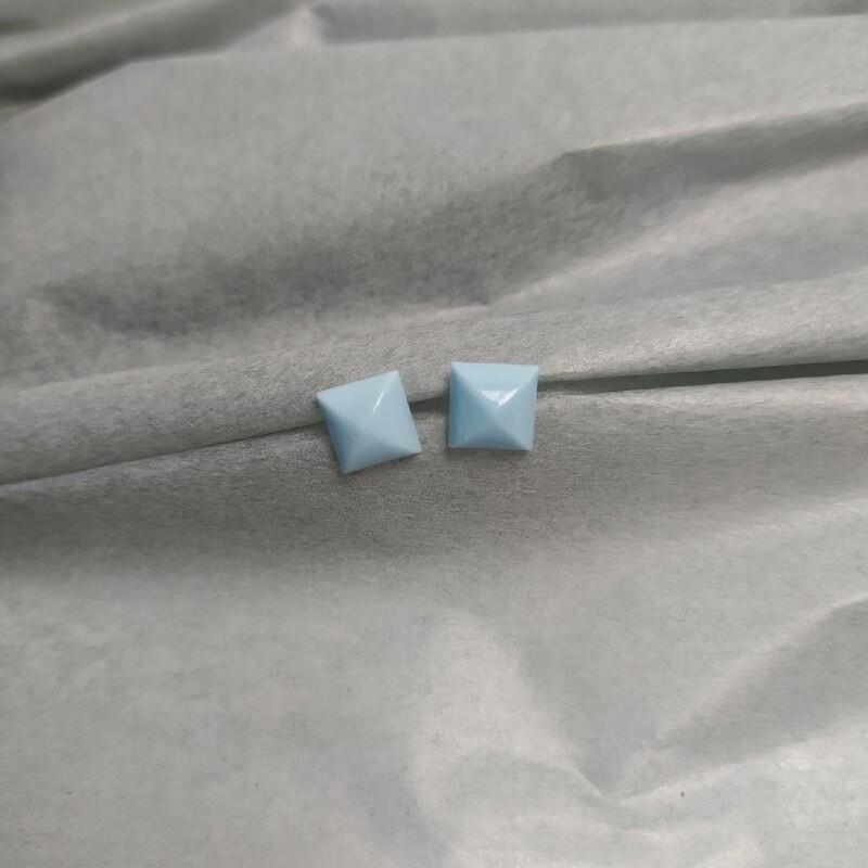 Kolczyki, kwadraty, błękitne