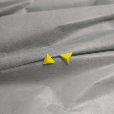 Kolczyki, trójkąty, żółte