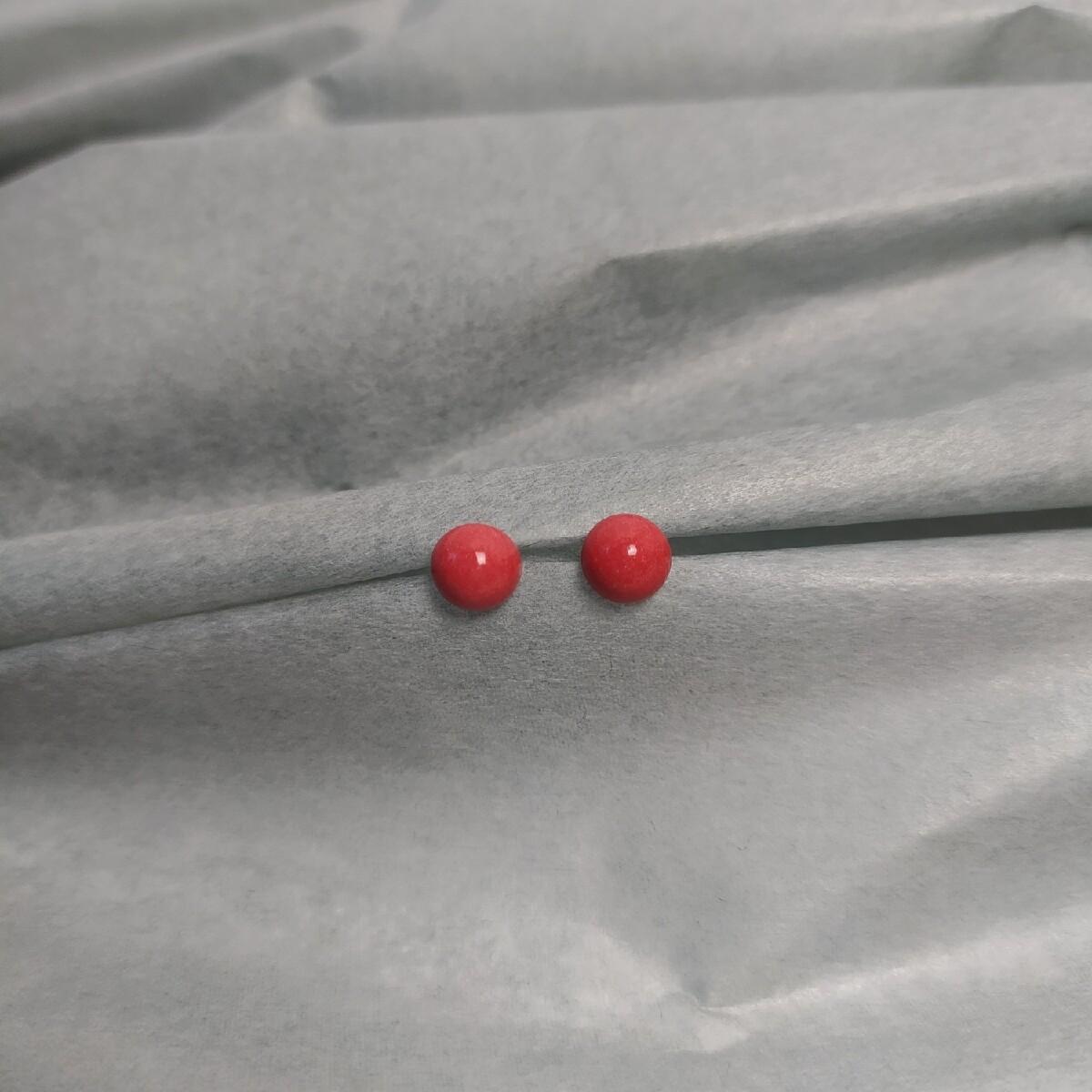 Kolczyki, PALLA czerwone