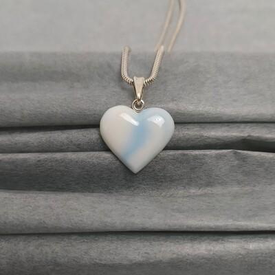 Wisiorek serce błękitny melanż