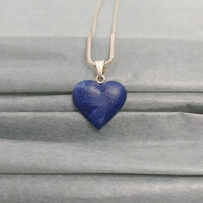 Wisiorek serce kobaltowe melanż