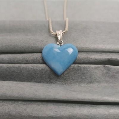 Wisiorek serce niebieski melanż