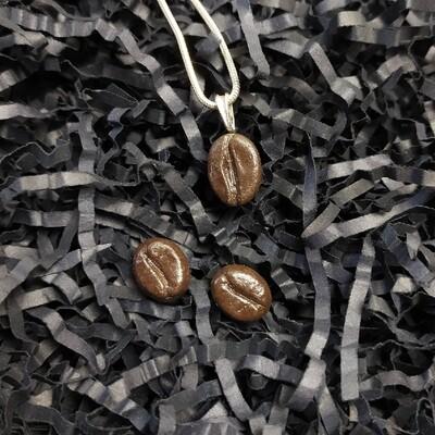 Komplet ziarenka kawy