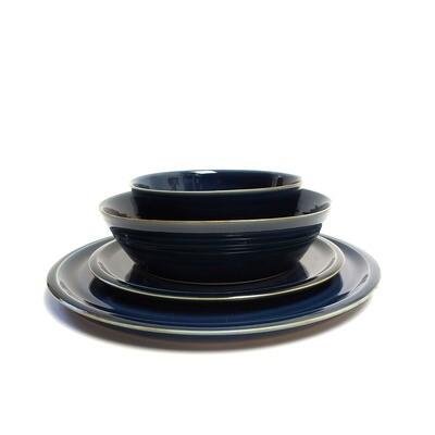 Zestaw obiadowy 4 elementy, 6 osobowy, niebieski
