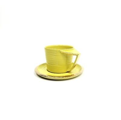 Edycja limitowana!!! Filiżanka RUBATO, żółta, złocona