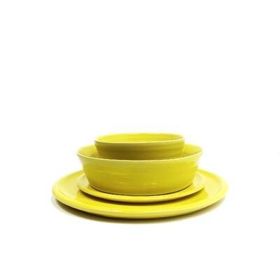 Edycja limitowana!!! Zestaw obiadowy 4 elementy, 6 osobowy, żółty