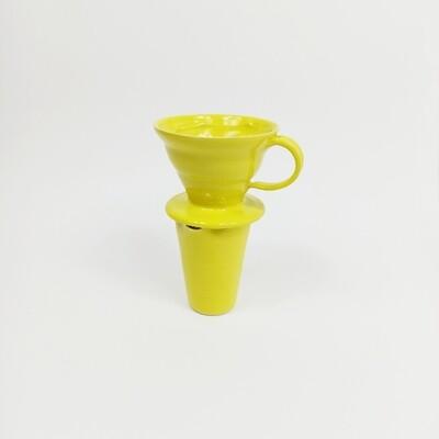 Edycja limitowana!!! Zestaw dripp hario V60 1 + dzbanuszek żółty