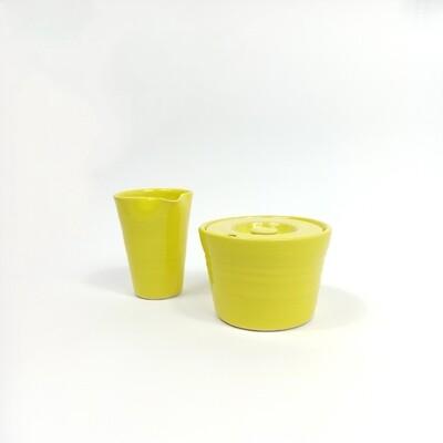 Edycja limitowana!!! Zestaw cukiernica + mlecznik żółte