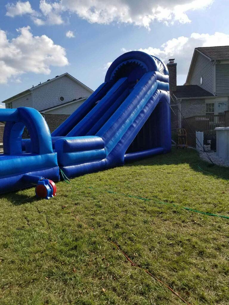 Giant slide with slip n slide