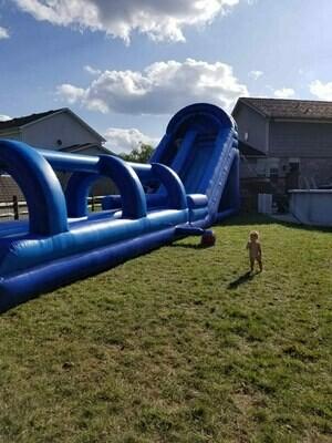 Giant slide with slip n slide
