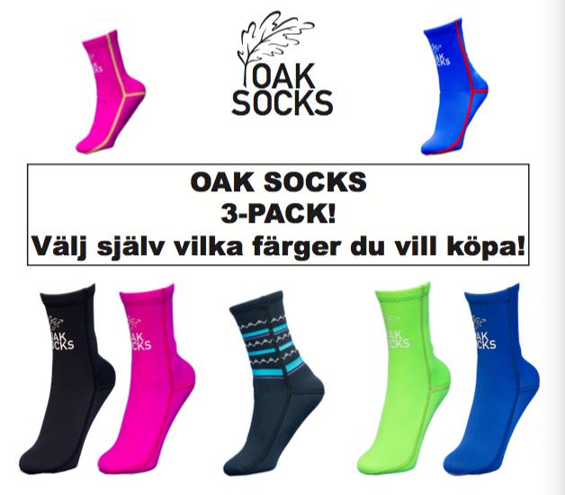 Oak Socks 3-pack!