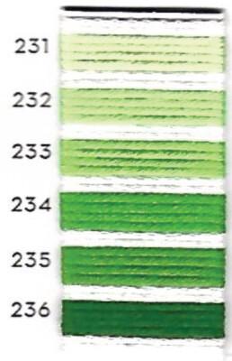 גוני צהוב-ירוק Au Ver a Soie חוטי משי