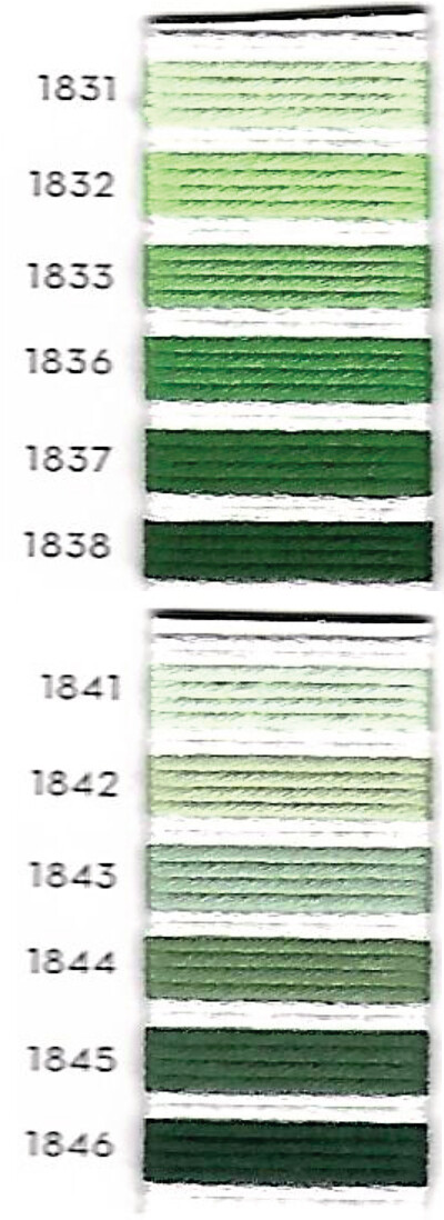 גוני ירוק Au Ver a Soie חוטי משי