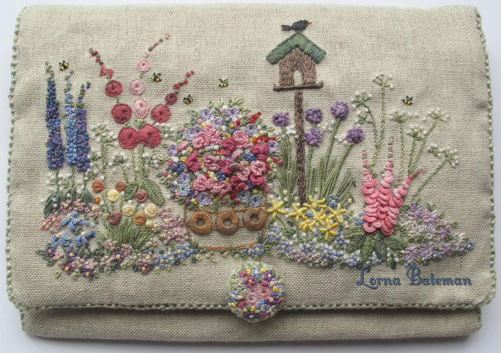 Embroidered Country Gardens Needlecase