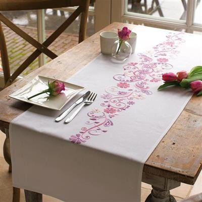 Table runner kit Pink and purple phantasy
