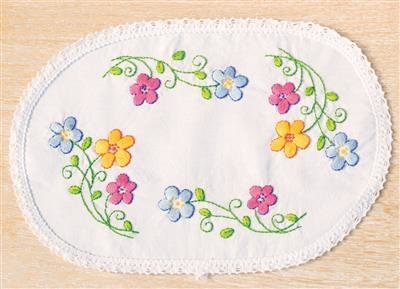 Doily Colorful flowers
