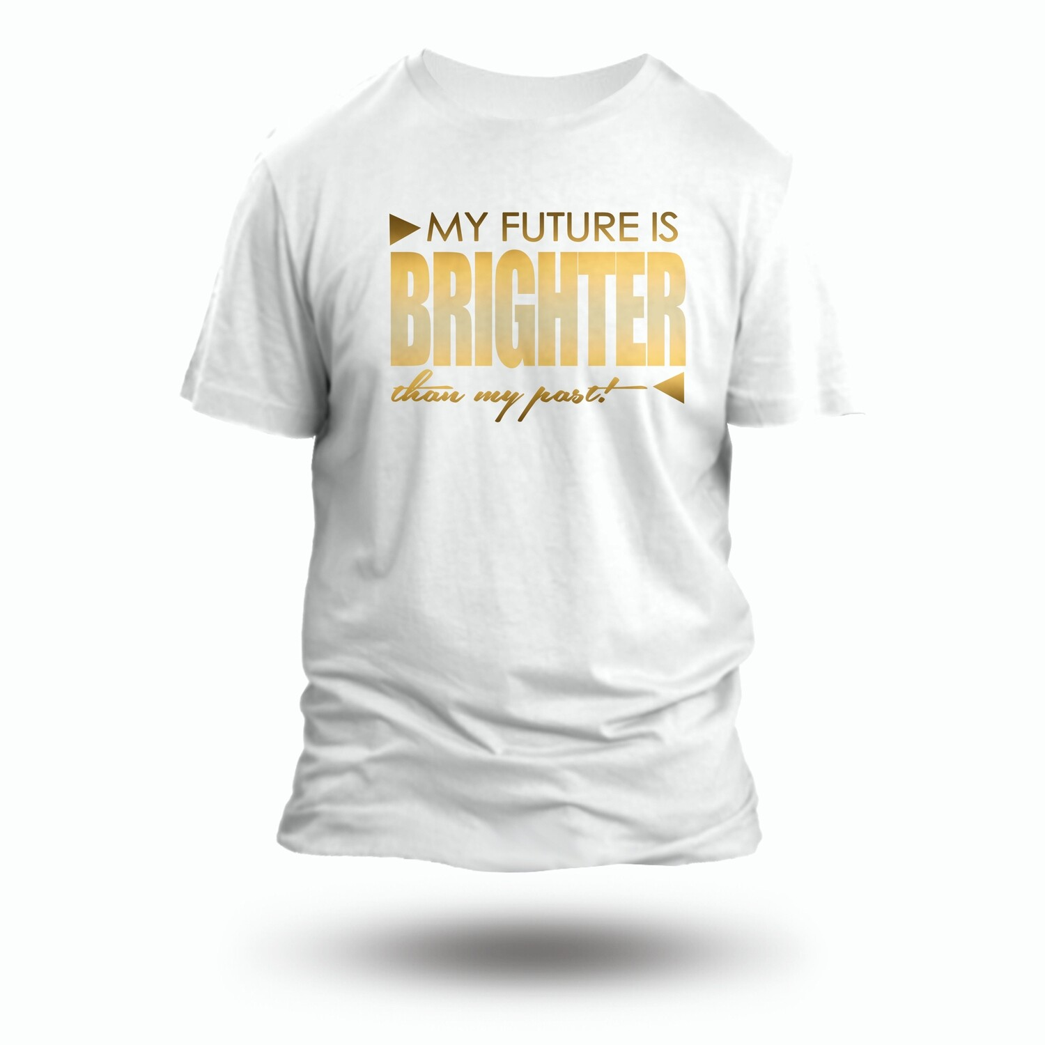 Bright Side T-shirt with Gold Glitter Letters