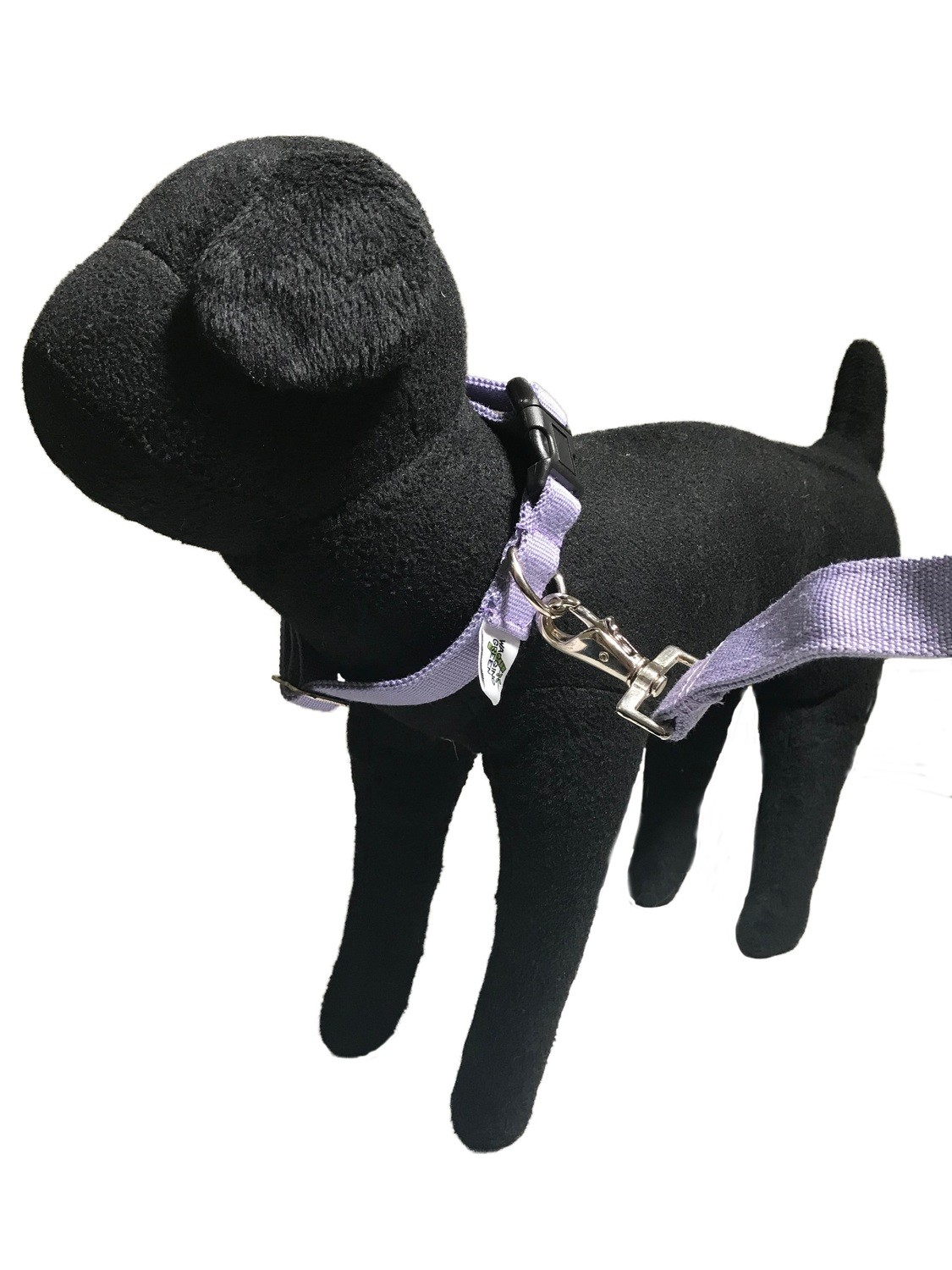 Natural Bamboo Double Layer Buckle Collar/  Leash Set - Spring Lilac