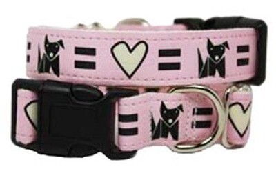 Eco Friendly Bamboo Saving The Earth Series Dog Collars - Love Dog (1