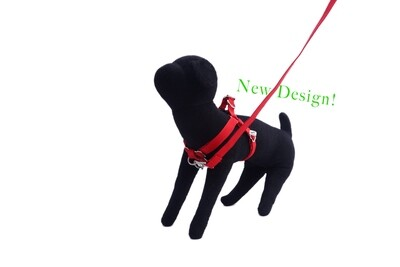 Eco-Friendly Bamboo 'Dual Clip' Step-In Dog Harness - Berry