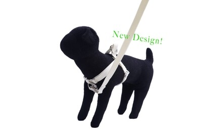 Eco-Friendly Bamboo 'Dual Clip' Step-In Dog Harness - Natural (undyed)
