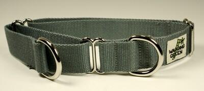 Eco Friendly Bamboo Single Layer Martingale Dog Collar - Pebble Gray