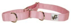 Eco Friendly Bamboo Single Layer Martingale Dog Collar - Seashell