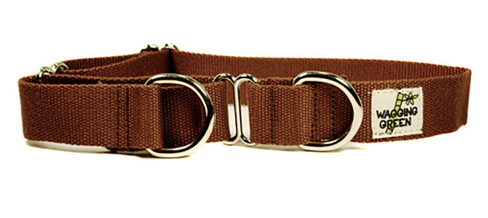 Eco Friendly Bamboo Single Layer Martingale Dog Collar - Tree Bark