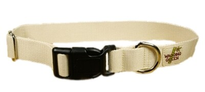 Eco Friendly Bamboo Double Layer Dog Collar - Natural (undyed) (1