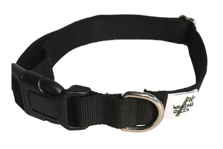 Eco Friendly Bamboo Single Layer Dog Collar - Midnight