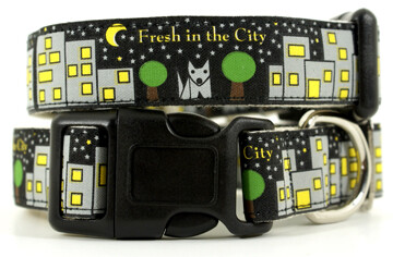 Eco Friendly Bamboo Saving The Earth Series Dog Collars - Fresh in the City