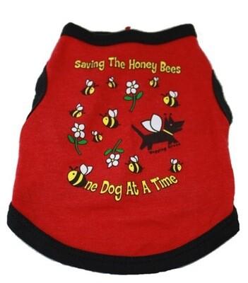 Eco Friendly Bamboo Saving The Earth Series Dog T-Shirt - Honey Bee