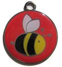 Blank ID Tags for Dog Collars - Honey Bee