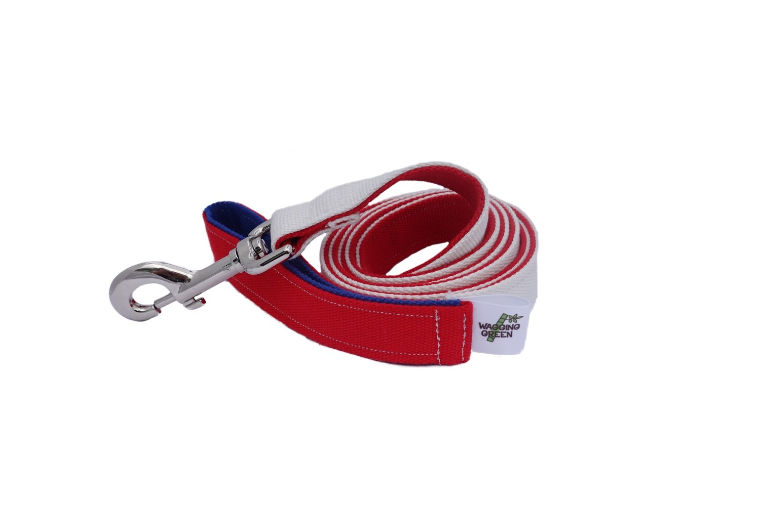 Eco Friendly  Bamboo Eco Hip Series Dog Leash - Red, White & Blue