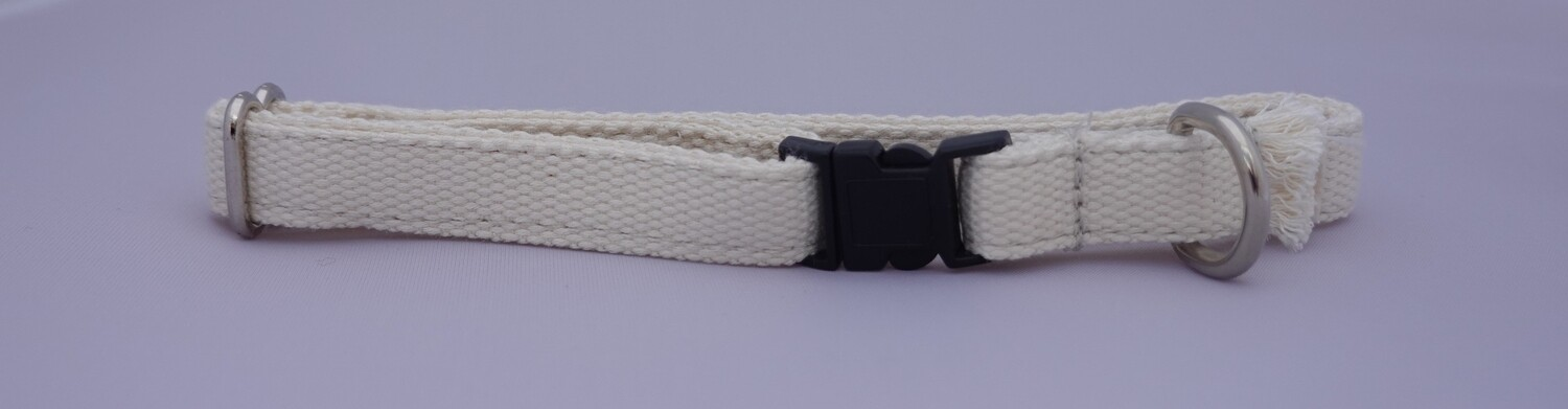 Eco Friendly Bamboo Breakaway Puppy Collar - Natural (undyed) (Double Layer - Clearance)