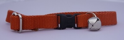 Eco Friendly Bamboo Cat Collar - Burnt Orange (Clearance)