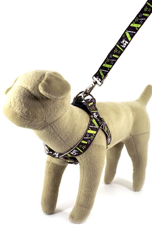 Eco Friendly Bamboo Saving The Earth Series Dog Harness - Bamboo Pooch