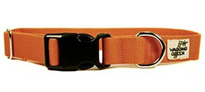 Eco Friendly Bamboo Single Layer Dog Collar - Falling Leaves