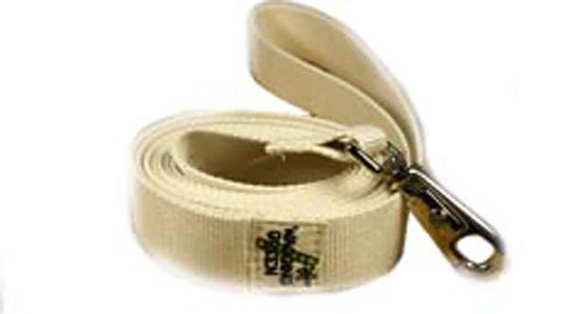 Eco Friendly Bamboo Single Layer Dog Leash - Natural (undyed)