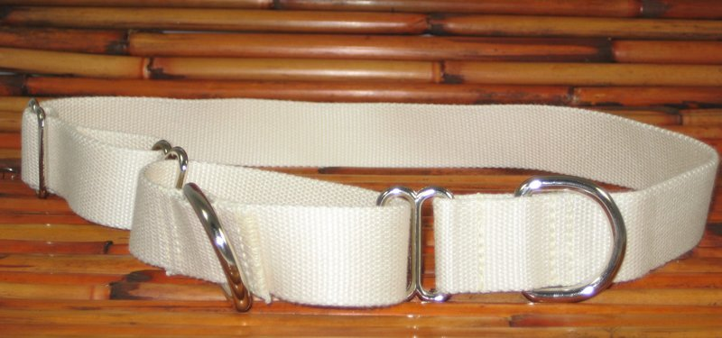Eco Friendly Bamboo Double Layer Martingale Dog Collar - Natural (undyed) (1