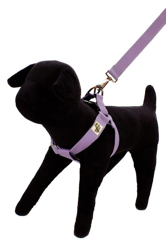 Eco Friendly Bamboo Double Layer Step-In Dog Harness - Spring Lilac