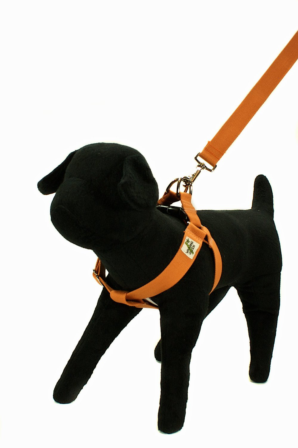 Eco Friendly Bamboo Single Layer Step-In Dog Harness - Falling Leaves