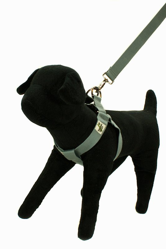 Eco Friendly Bamboo Double Layer Step-In Dog Harness - Pebble