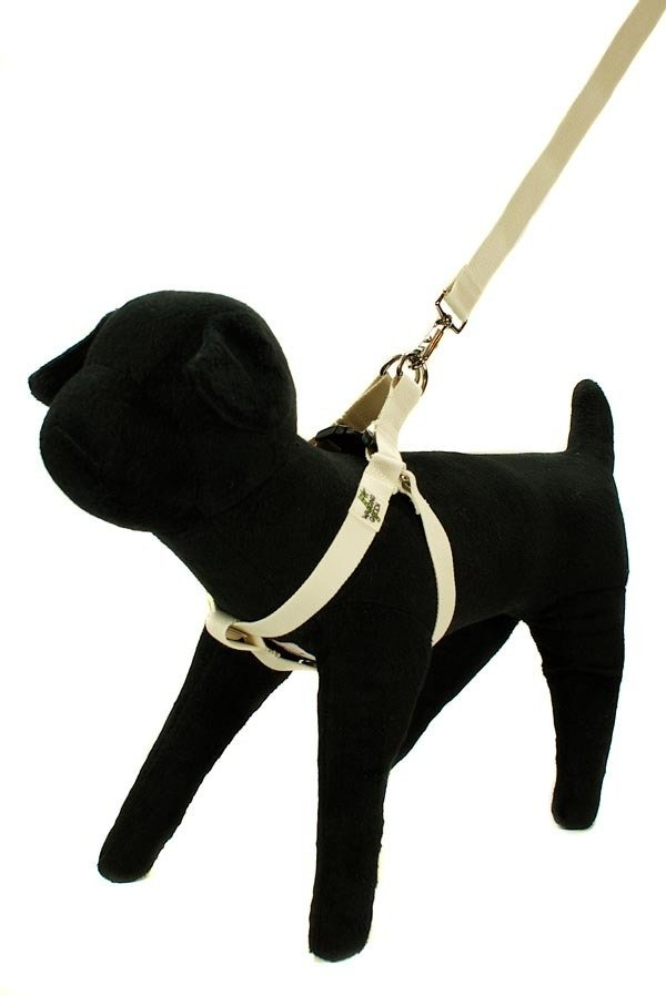 Eco Friendly Bamboo Single Layer Step-In Dog Harness - Natural (undyed)